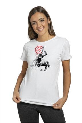 Anı Diyarım Unisex Beyaz Anime Hellsing Ultimate Baskılı T-shirt