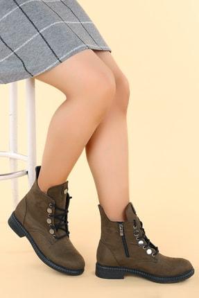 Ayakland N901-02 Süet Termo Taban Kadın Bot Ayakkabı