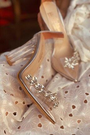 LAMİNTA Princess Gümüş Şeffaf Kadın Topuklu Ayakkabı