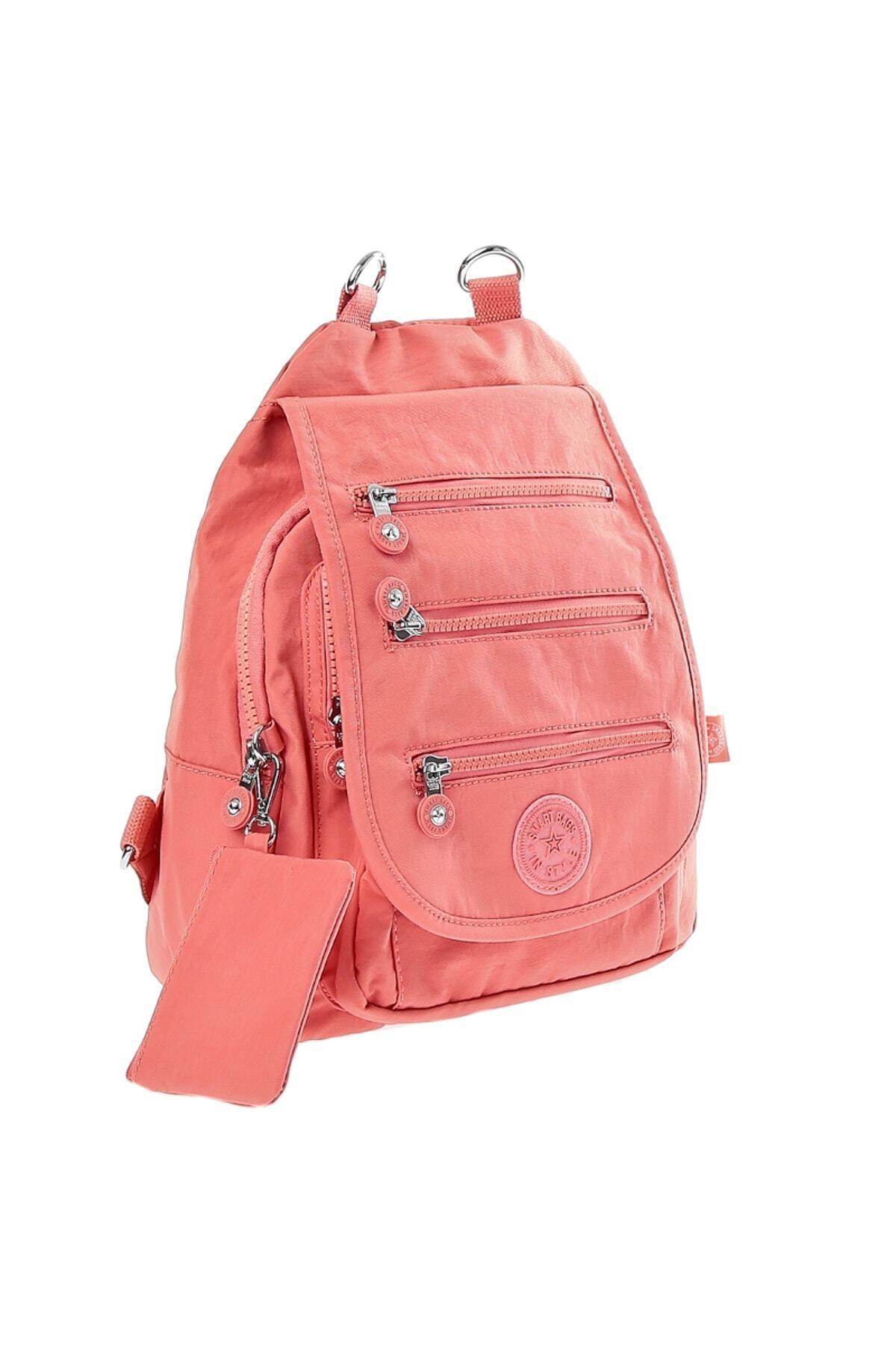 SMART BAGS Kadın Somon Çanta 2