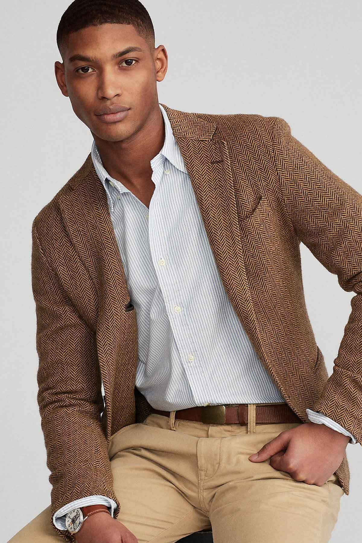 Polo Ralph Lauren Erkek Gri Slim Fit Oxford Gömlek 2