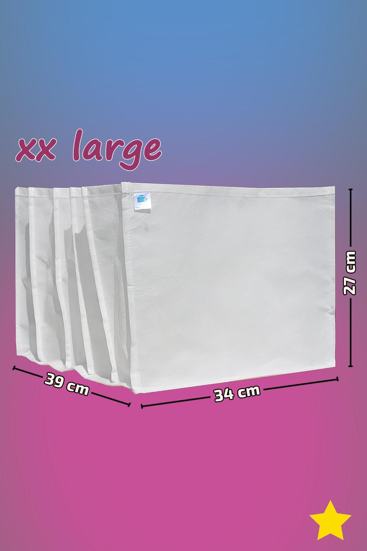 MİA Home Production Beyaz - Xx Large Boy / 5 Gözlü Çekmece Dolap Içi Düzenleyici - Organizer 1