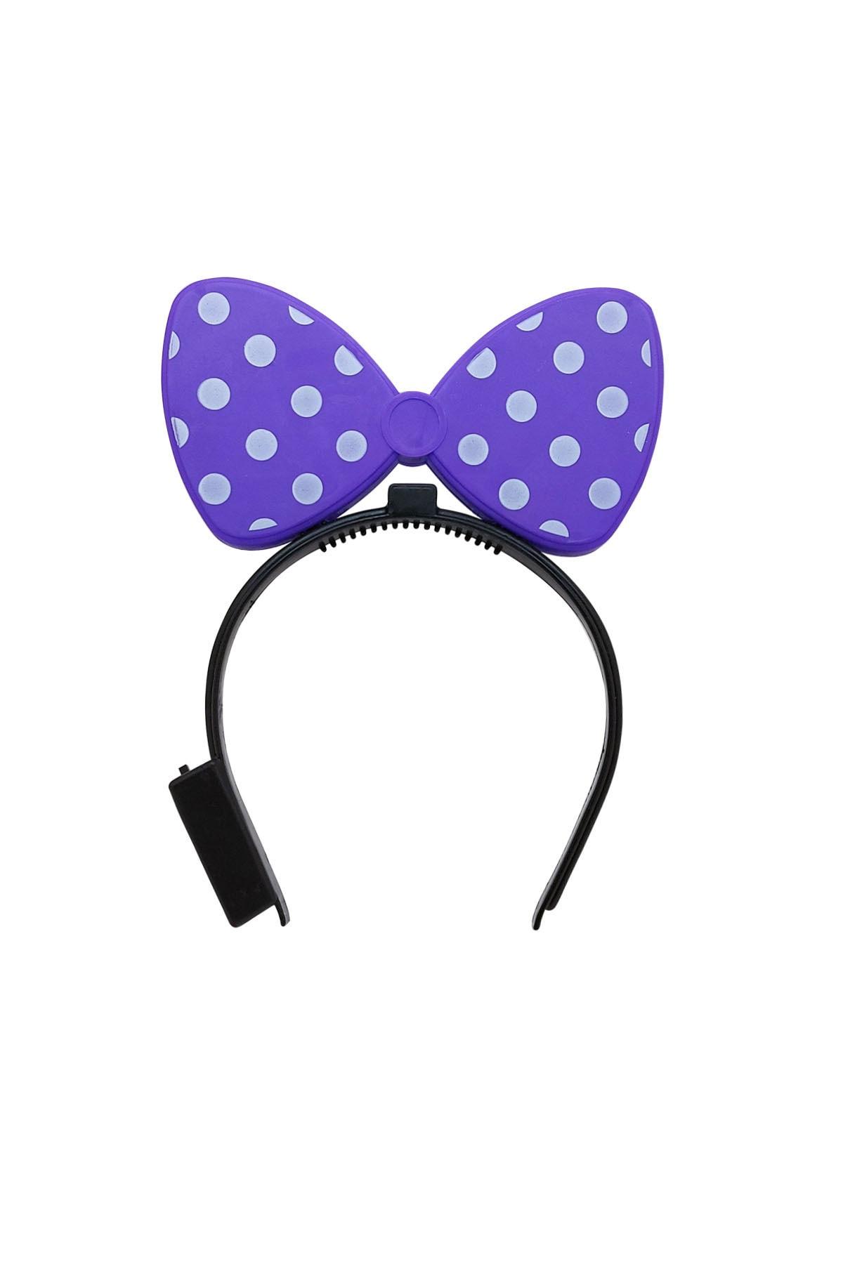 Mickey Mouse Mor Işıklı Taç 1