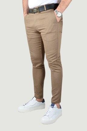 Terapi Men Erkek Kahverengi Keten Pantolon