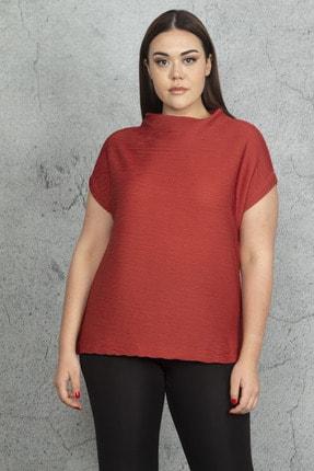 Şans Kadın Tarçın Sim Detaylı Bluz 65N20880
