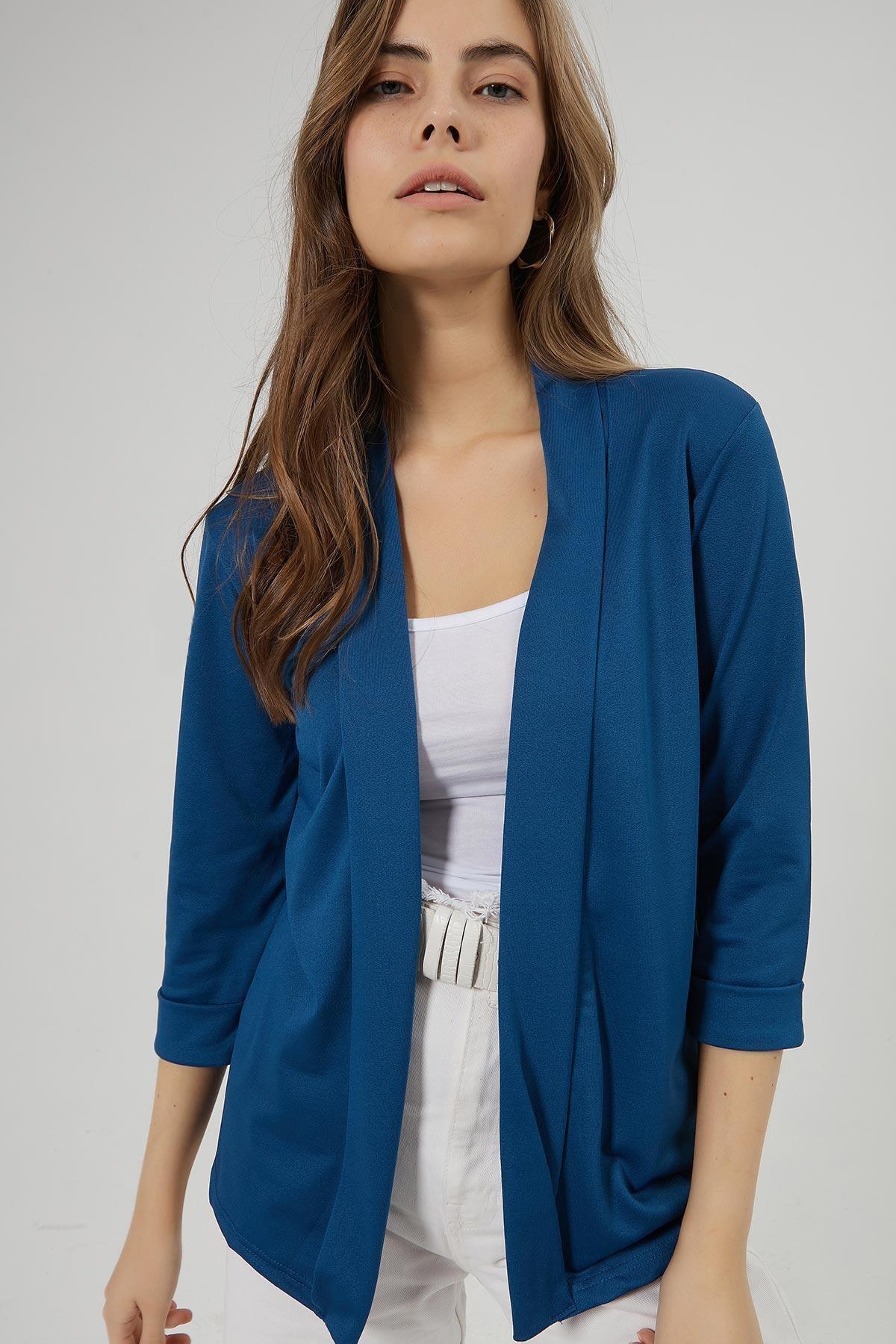 Y-London Kadın Lacivert Şal Yaka Blazer Ceket Y20W169-1185 1