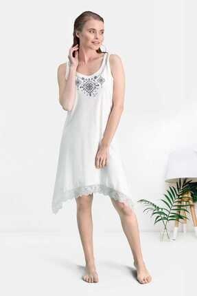 Pierre Cardin Ekru Asimetrik Kesim Kadın Gündelik Elbise