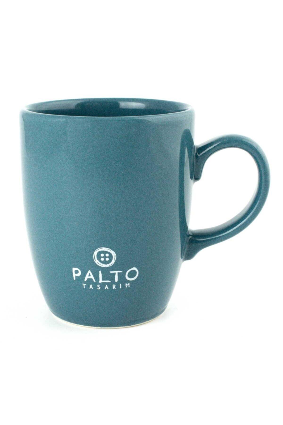PALTO TASARIM Petrol Yeşili Parlak İtlik ve Serserilik Yazılı Oval Kupa 2
