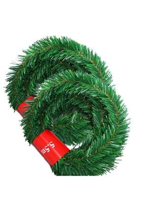 Happyland Yeşil Çam Garland Çam Dalı 5 Metre Uzunluk - 3.5mm Kalınlık Doğal Görünümlü Dalı