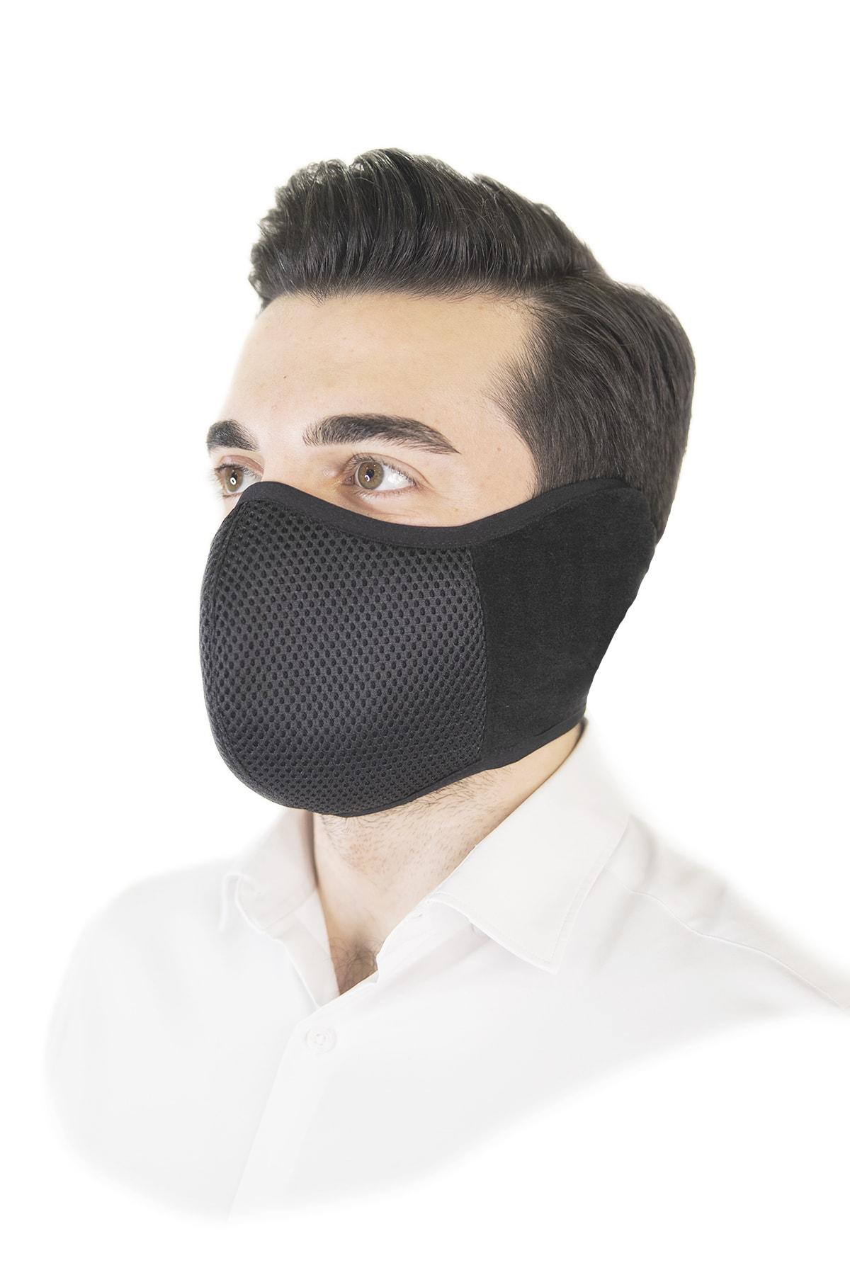 HOTMASK Erkek Siyah Yıkanabilir Kış Maskesi 1
