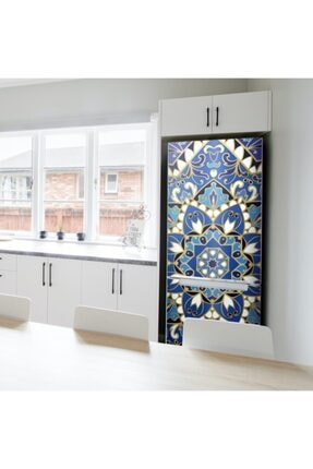 Artikel Mavi Mandala Buzdolabı Sticker
