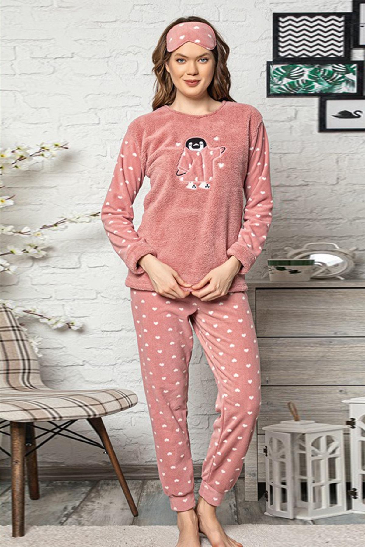 Kompedan Kadın Yavruağzı Welsoft Pijama Takımı 1
