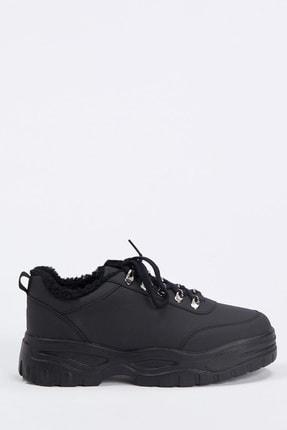 DeFacto Kadın White And Black Bağcıklı Ugly Sneaker Ayakkabı S0807AZ20AU