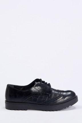 DeFacto Suni Deri Bağcıklı Loafer Ayakkabı