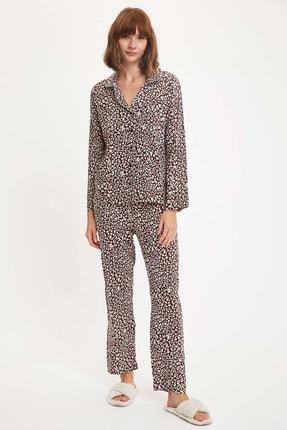 DeFacto Desenli Pijama Takımı