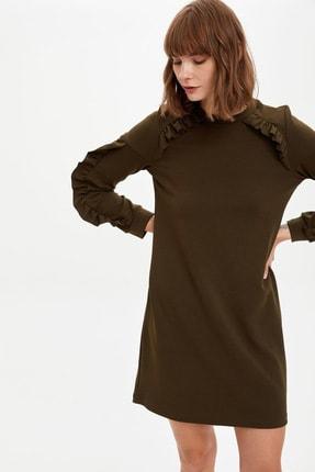 DeFacto Volan Detaylı Örme Elbise