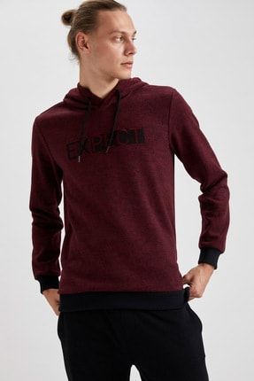 DeFacto Expect Baskılı Kapüşonlu Regular Fit Sweatshirt