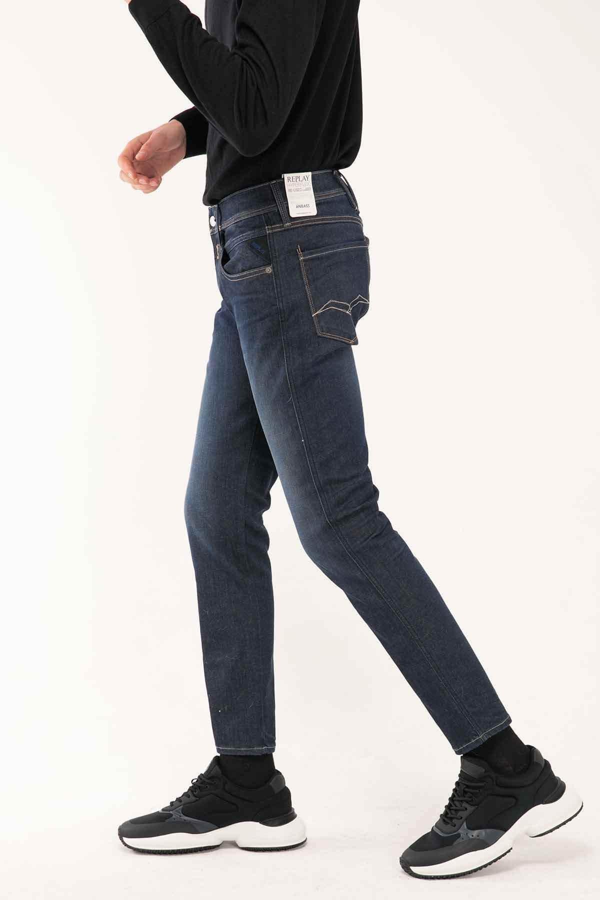Replay Erkek Lacivert Hyperflex Re-used Slim Fit Anbass Jeans 2