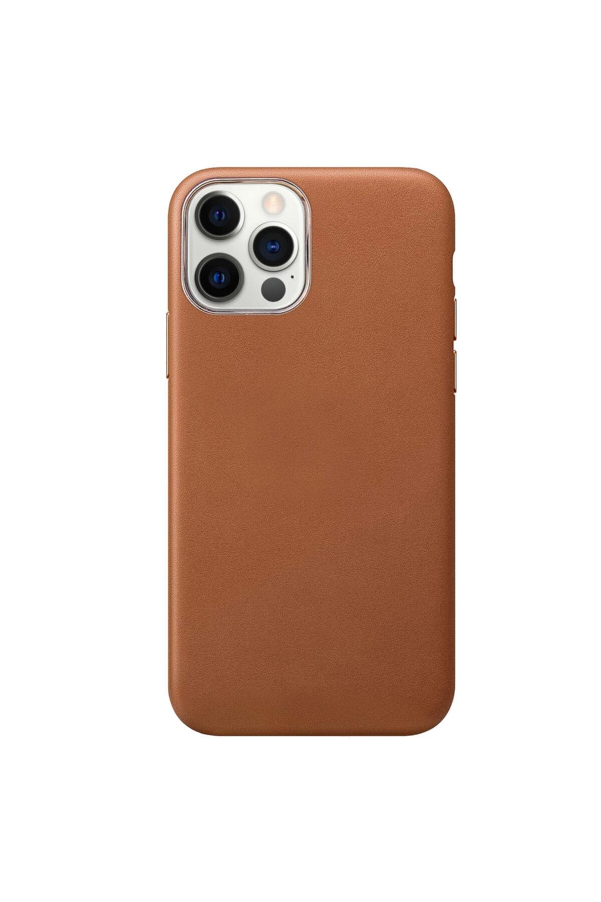 Microsonic Apple Iphone 12 Pro Max Kılıf Luxury Leather Kahverengi 2