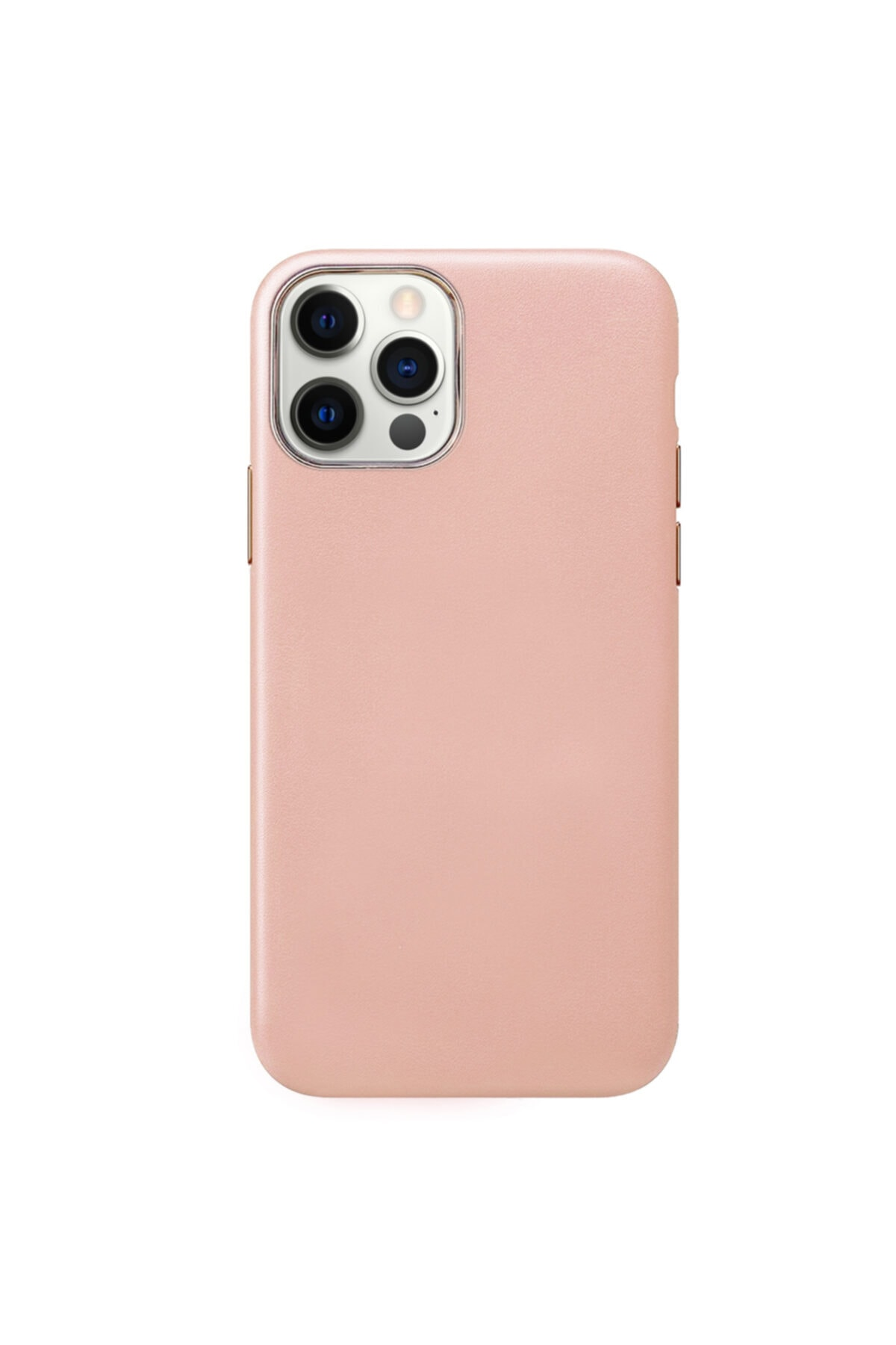 Microsonic Apple Iphone 12 Pro Max Kılıf Luxury Leather Rose Gold 2