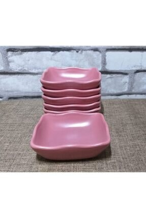 Keramika Çerezlik / Sosluk / Kahvaltılık (11cm X 11cm) 6 Adet