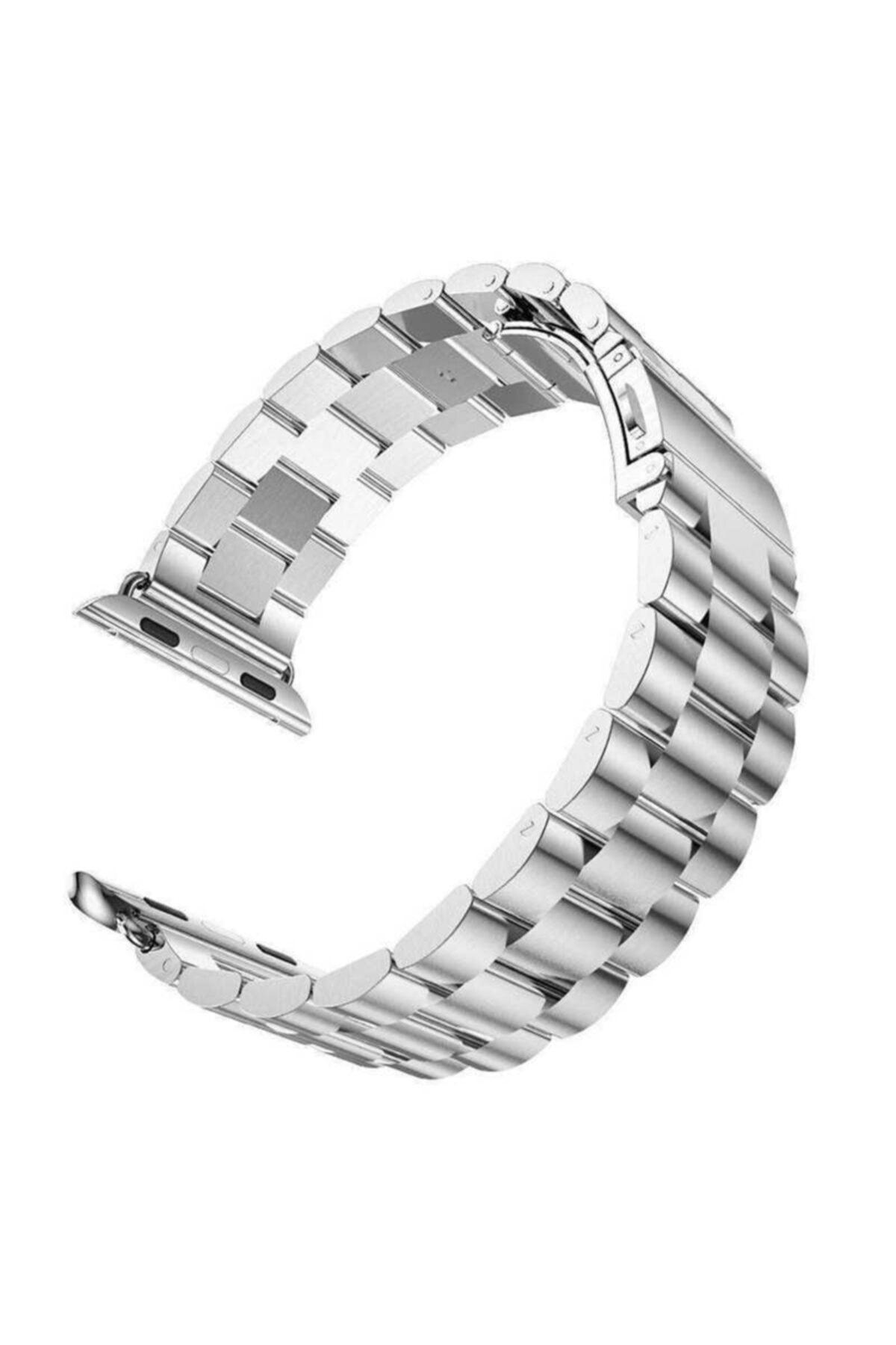 zore Apple Watch 1 2 3 4 5 6 Serisi 40mm Yandan Klipsli Ayarlanabilir Metal Kordon (krd-04) 2
