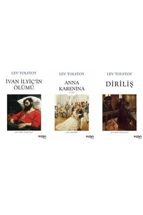 Can Yayınları Lev Tolstoy Seti 3 Kitap Anna Karenina - Diriliş - Ivan Ilyiç'in Ölümü