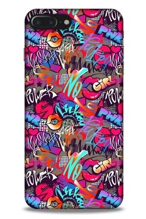 Lopard Graffitix (8) Desenli Silikon Kapak Apple Iphone 8 Plus Kılıf