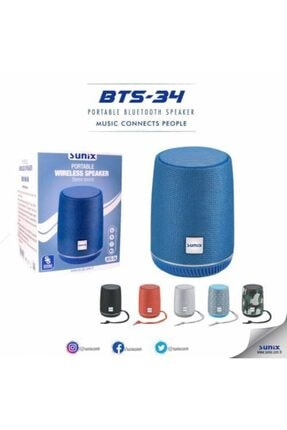 Sunix Bts 34 Bluetooth Speaker Ses Bombası