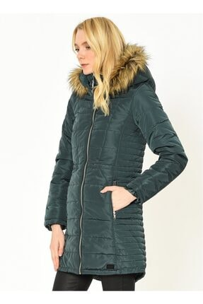 Vero Moda Kadın Yeşil Kapüşonlu Mont Vmfast