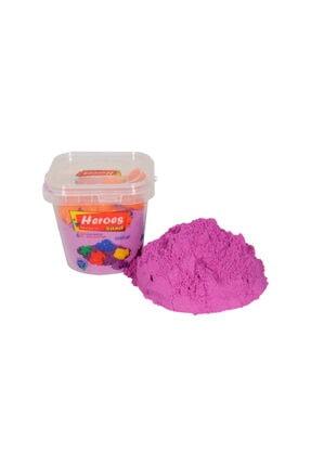 Apiko Shop Heroes Kalıp Hediyeli Kovalı Renkli Kinetik Kum 1000 gr