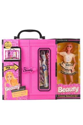 Web Sonsuz Hareket Bebekli Barbie Gardrobu,barbi Çantalı Giysi Dolabı