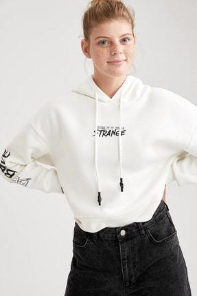 DeFacto Kadın Gotik Baskılı Relax Fit Sweatshirt
