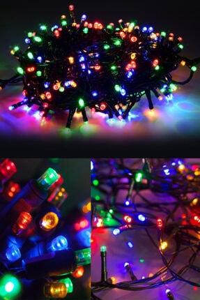 Parti dolabı Rengarenk Yılbaşı Çam Ağacı Işığı 4 Metre Fişli Led Rgb Lambaları Işık