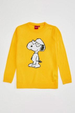 DeFacto Kız Çocuk Snoopy Lisanslı Triko Kazak