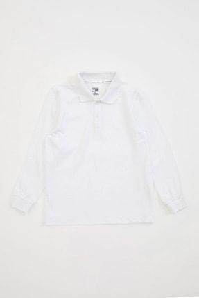 DeFacto Erkek Çocuk Uzun Kollu Polo Tişört