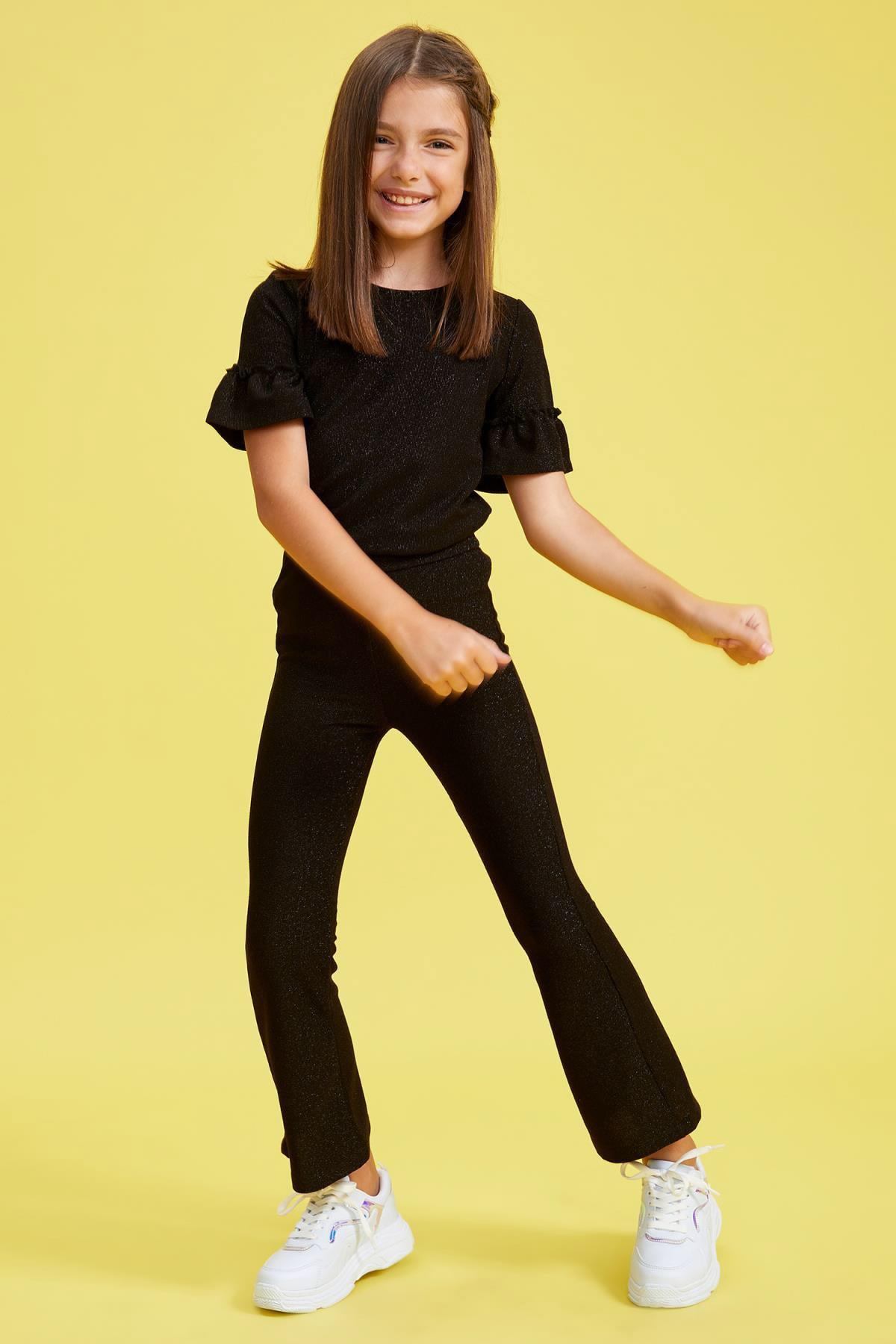 DeFacto Kız Çocuk Fırfırlı Bluz ve Pantolon Takım 2