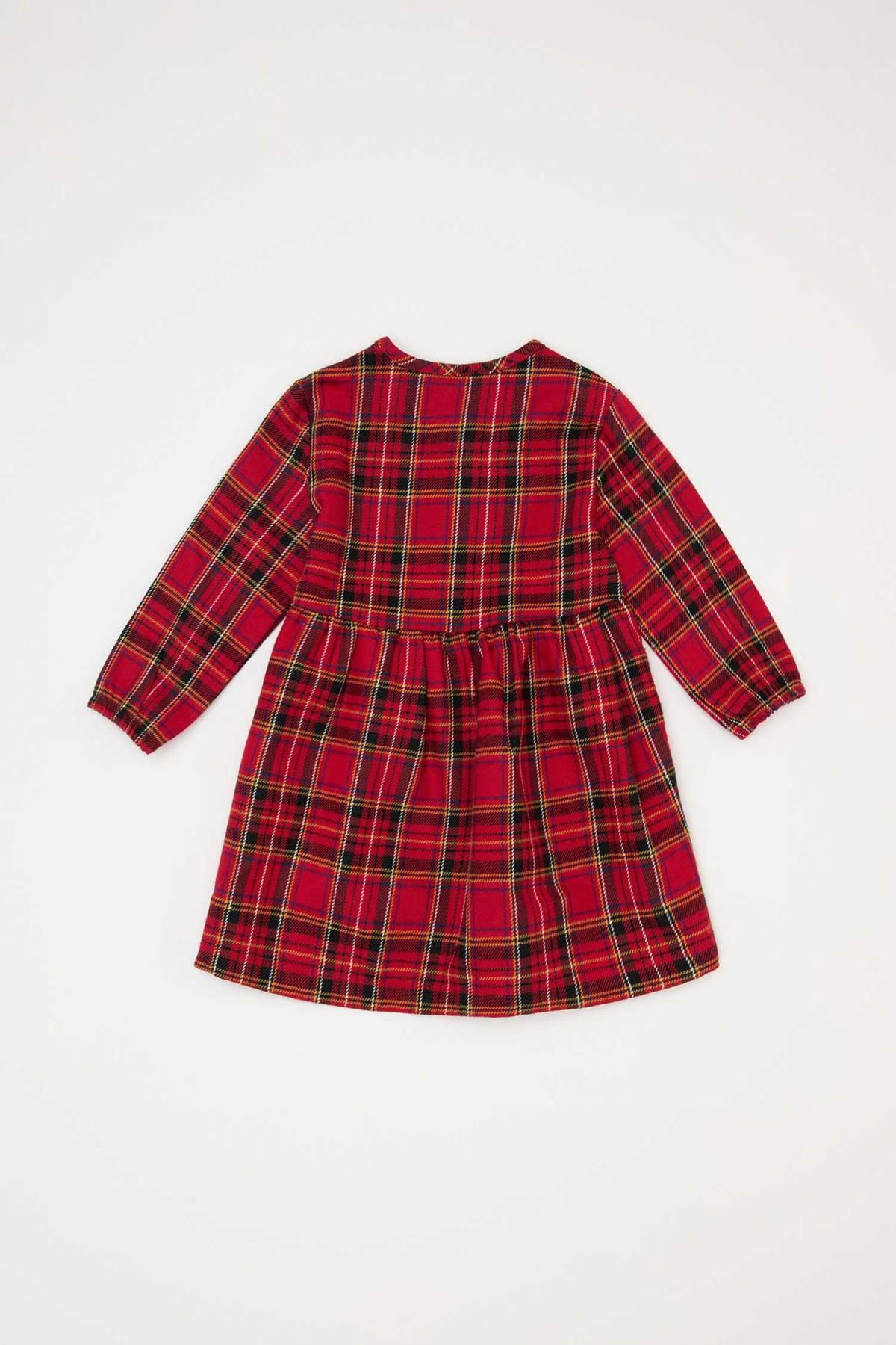 DeFacto Kız Bebek Kareli  Elbise 2