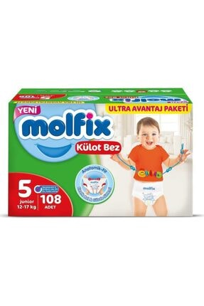 Molfix Külot Bez 5 Numara 108 Adet Ultra Avantaj Paketi Kutu