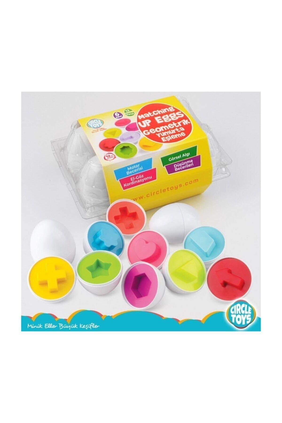 Circle Toys Şekilli Geometrik Yumurtalar Eğitici Oyuncak 1