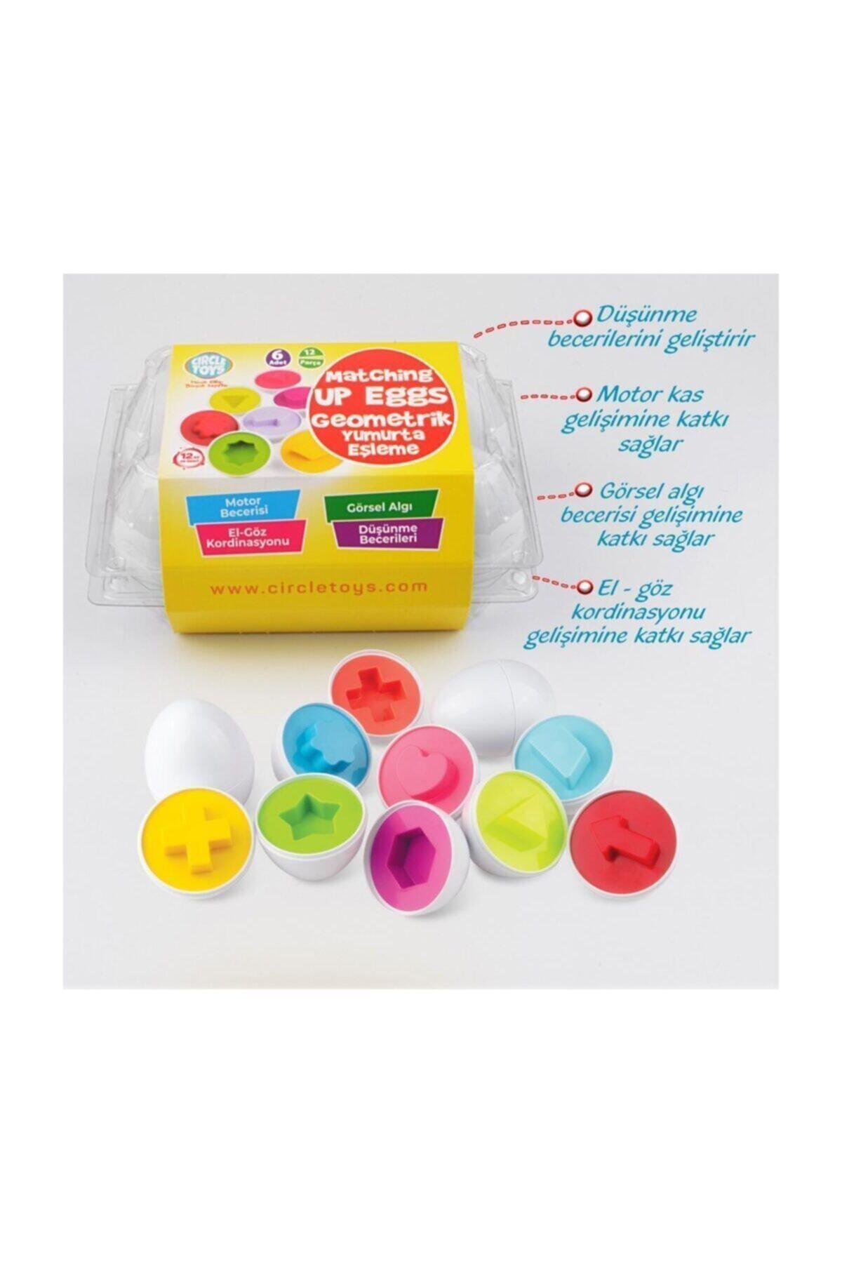 Circle Toys Şekilli Geometrik Yumurtalar Eğitici Oyuncak 2