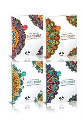 Akıllı Adam Yetişkinler Için Mandala Boyama Seti (4 Kitap)