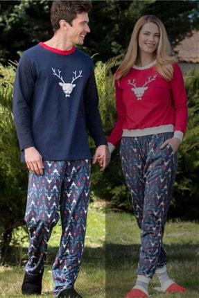 Yeni İnci Lacivert Sevgili Erkek Pijaması(yalnızca Erkek Pijamasıdır, Kadın Pijama Ayrıca Sepete Eklenmelidir)