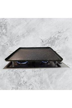 Kinga Granit Ocak Üstü Pişirme Sacı Kulplu Kare Dizayn-granit Sac