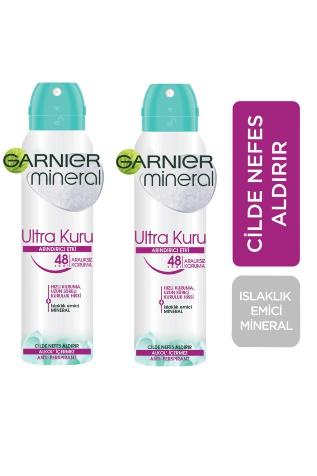 Garnier Mineral Ultra Kuru Kadın Sprey Deodorant 150 Ml 2 Adet 1