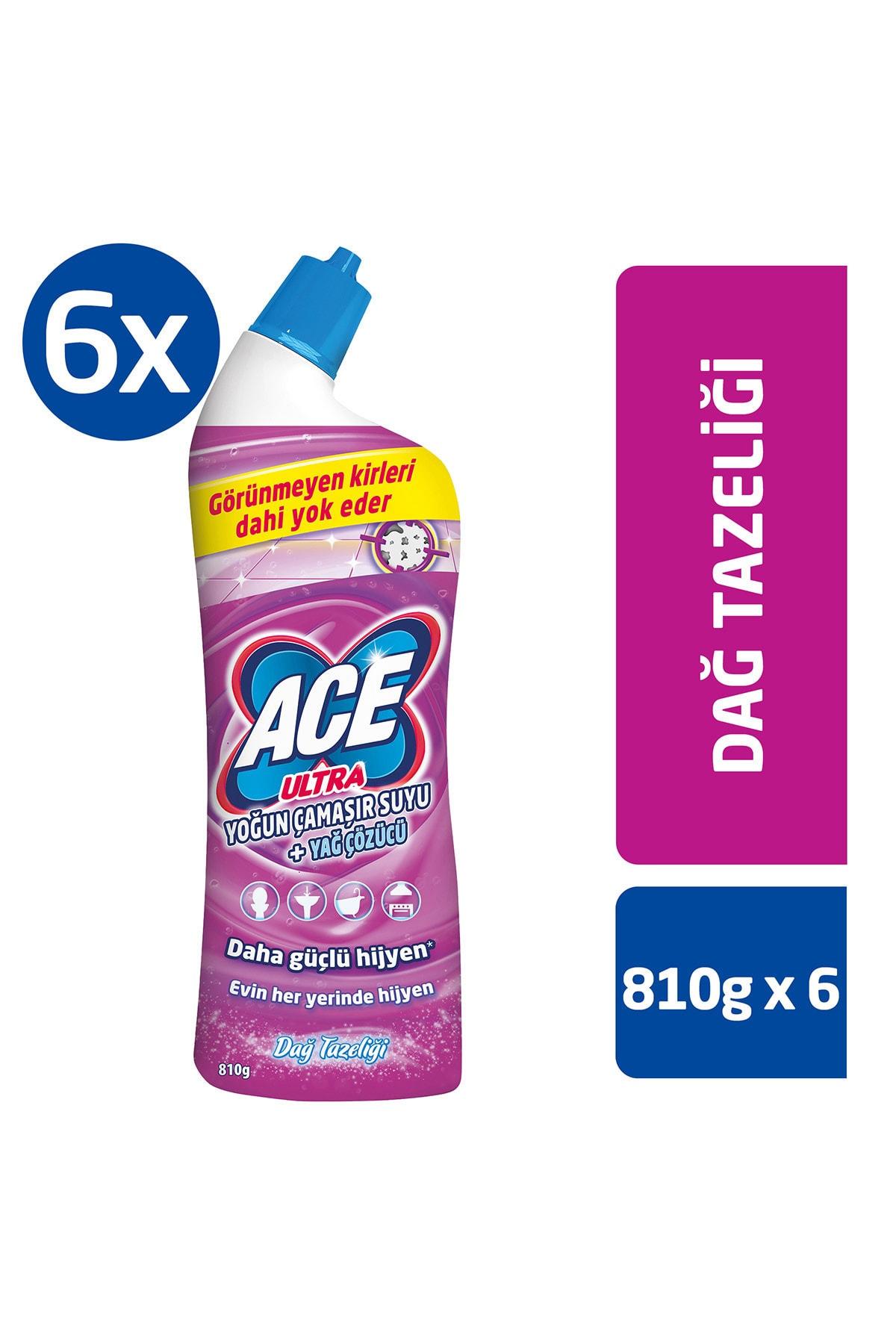 ACE Ultra Power Jel Kıvamlı Çamaşır Suyu Dağ Tazeliği 810g X 6 Adet 1