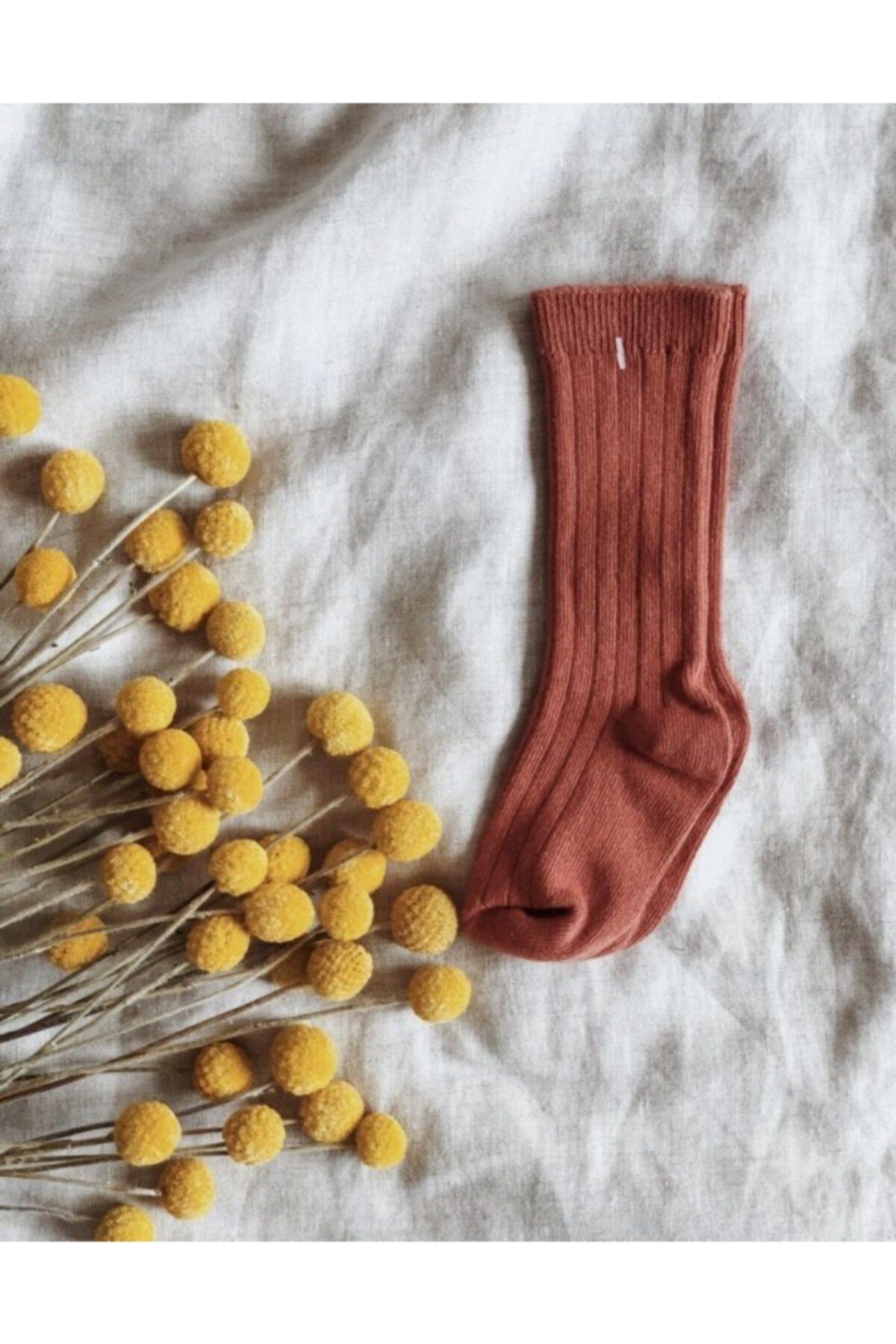 LAL Babyrompers Unisex Bebek Kiremit Soft Çorap 1