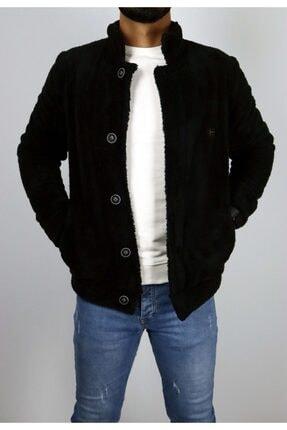 Baresse Collection Erkek Siyah Renk Cepli Peluş Ceket Hırka