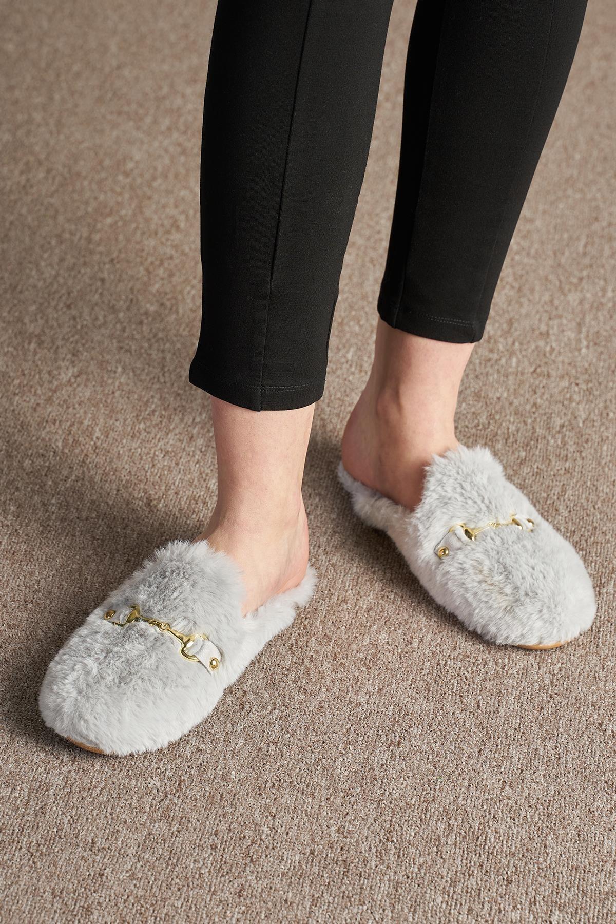 OCT Shoes Kadın Peluş Terlik Ts1054 2