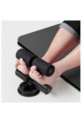 glassepet Siyah Ayak Destekli Mekik Çekme Spor Aleti Fitness Ekipmanı Vantuzlu Mekik Çekme Egzersiz Aleti